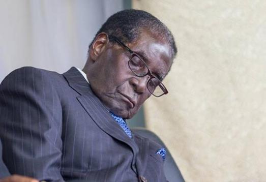 Mugabe-sleeping