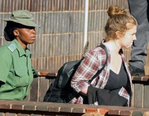 Martha O'Donovan being taken to Chikurubi